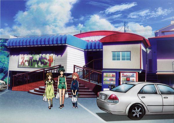 Tags: Anime, A-1 Pictures, Vividred Operation, Saegusa Wakaba, Isshiki Momo, Shinomiya Himawari, Official Art, Scan