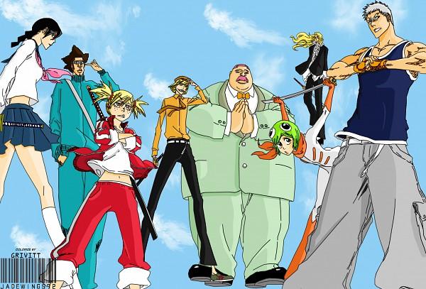 Tags: Anime, BLEACH, Muguruma Kensei, Sarugaki Hiyori, Aikawa Love, Hirako Shinji, Ushouda Hachigen, Outoribashi Roujuurou, Kuna Mashiro, Yadoumaru Lisa, Colorization, Vizard