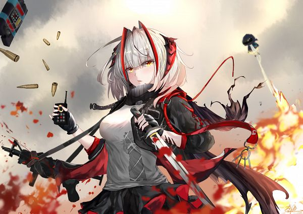 Tags: Anime, Pixiv Id 6655375, Arknights, W (Arknights), Pixiv, Arknights Battle Illustration Contest