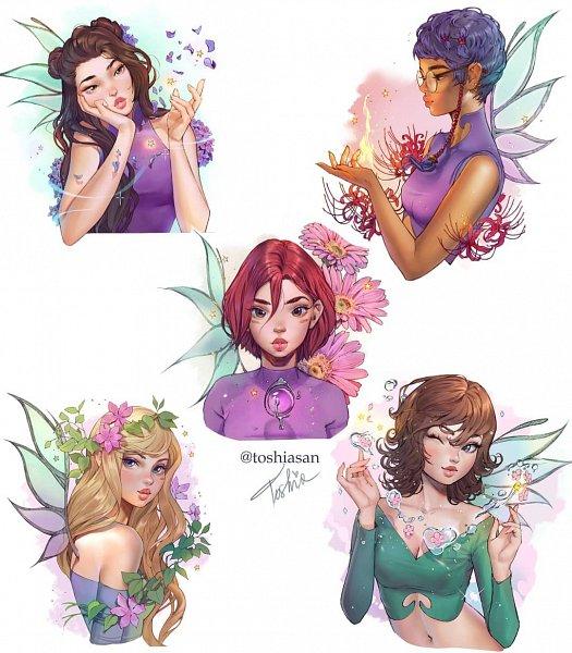 Tags: Anime, Toshiasan, W.I.T.C.H, Taranee Cook, Cornelia Hale, Will Vandom, Hay Lin, Irma Lair, Fanart