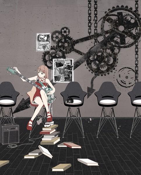 Tags: Anime, Wacchi, Stack Of Books, Pixiv, Original