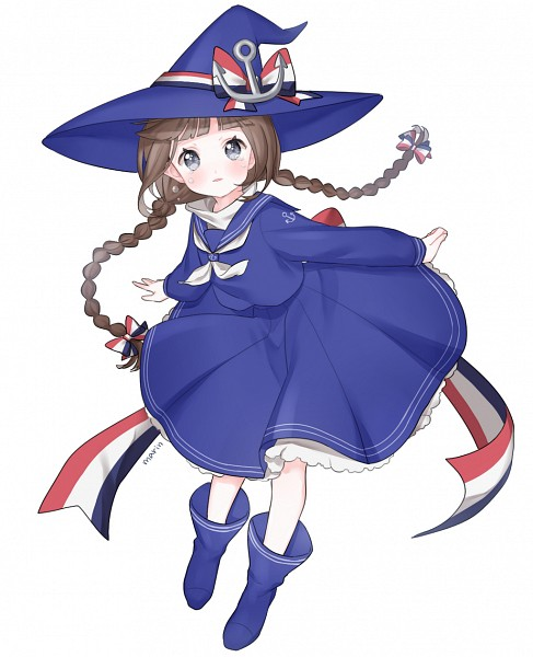 Tags: Anime, Pixiv Id 8571893, Oounabara to Wadanohara, Wadanohara, PNG Conversion, Pixiv, Fanart, Fanart From Pixiv