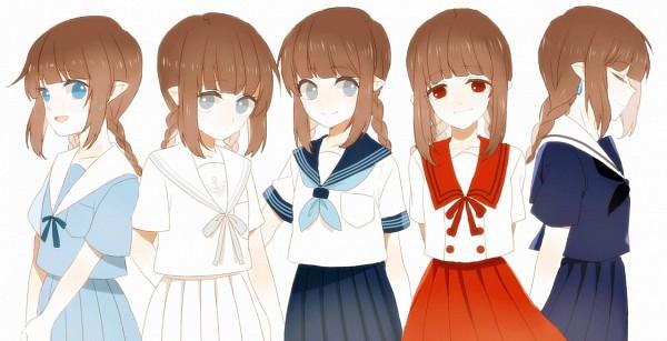 Tags: Anime, Pixiv Id 2423199, Oounabara to Wadanohara, Wadanohara, Pixiv, Facebook Cover