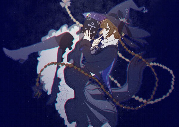 Tags: Anime, Rrr (Pixiv524198), Oounabara to Wadanohara, Wadanohara, Anchor, Gray Bow, Fanart, Fanart From Pixiv, PNG Conversion, Pixiv