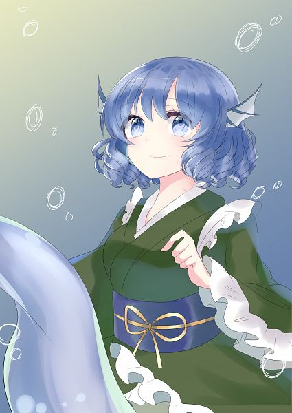 Tags: Anime, Pixiv Id 16116506, Touhou, Wakasagihime, Head Fins, Fanart, Fanart From Pixiv, Pixiv