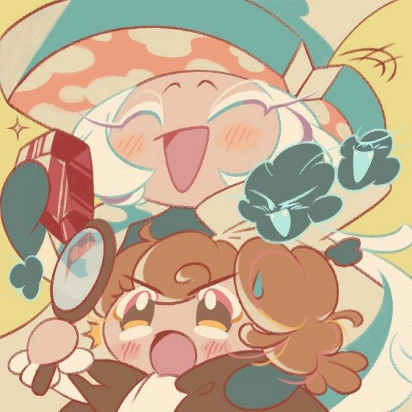 Tags: Anime, Wondership, Cookie Run: OvenBreak, Cookie Run, Roguefort Cookie, Walnut Cookie, Magnifying Glass, Fanart, Twitter, WalFort