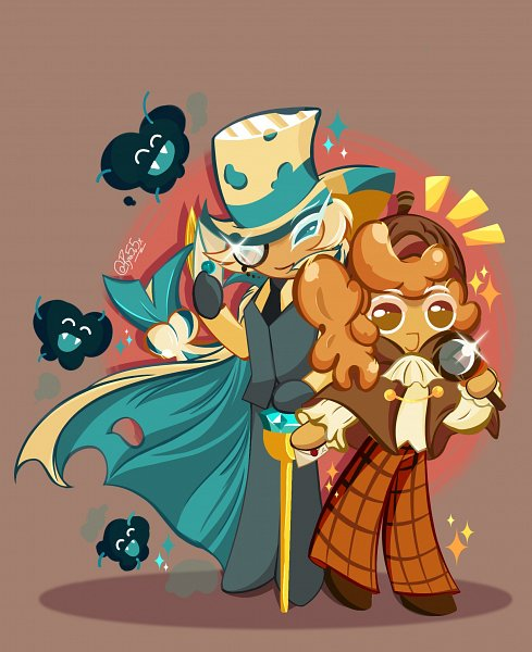 Tags: Anime, Pyro5o5x, Cookie Run: OvenBreak, Cookie Run, Walnut Cookie, Roguefort Cookie, Magnifying Glass, Brown Hat, Aqua Handwear, Aqua Gloves, Teal Outfit, Brown Headwear, Fanart