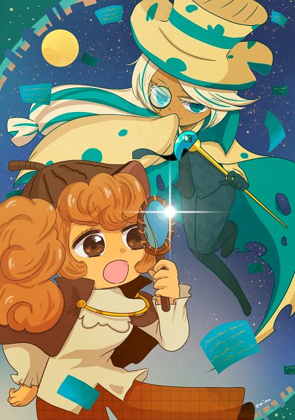 Tags: Anime, Eminu, Cookie Run: OvenBreak, Cookie Run, Roguefort Cookie, Walnut Cookie, Brown Headwear, Detective, Brown Hat, Phantom Thieves, Teal Outfit, Teal Pants, Magnifying Glass