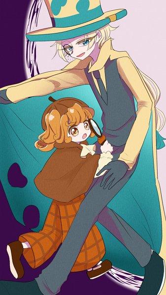Tags: Anime, Pixiv Id 36926593, Cookie Run: OvenBreak, Cookie Run, Roguefort Cookie, Walnut Cookie, Teal Pants, Magnifying Glass, Yellow Headwear, Brown Headwear, Aqua Handwear, Brown Hat, Aqua Footwear