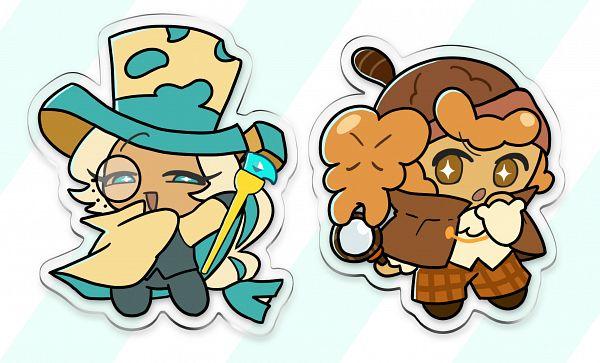Tags: Anime, AkibeStar, Cookie Run: OvenBreak, Cookie Run, Roguefort Cookie, Walnut Cookie, Magnifying Glass, Phantom Thieves, Thief, Brown Headwear, Brown Hat, Fanart, Fanart From Pixiv