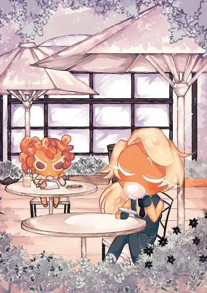 Tags: Anime, Mitani01, Cookie Run: OvenBreak, Cookie Run, Roguefort Cookie, Walnut Cookie, Thief, Phantom Thieves, Twitter, Fanart, WalFort