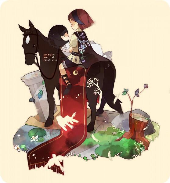 Tags: Anime, Rinju Umisu, Wander to Kyozou, Wander, Mono (Wander to Kyozou), Agro, Shadow Of The Colossus