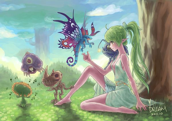 Tags: Anime, Dreamyyn, Warcraft, Night Elf, Brightwing, Purple Skin, Sash, Sprite Darter, Fanart