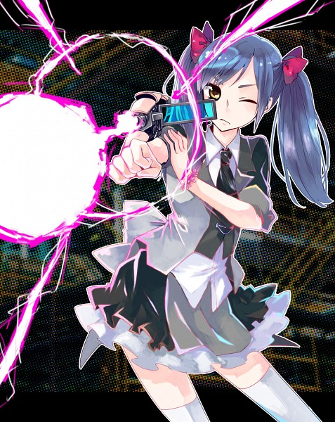 Tags: Anime, Kagekichirou, AKB0048, Watanabe Mayu (AKB0048), Aiming To Side, Cannon, Arm Cannon, Shooting, Pixiv, Fanart From Pixiv, Fanart, AKB48