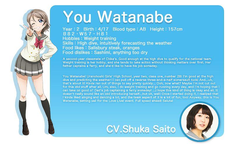Watanabe You - Love Live! Sunshine!!