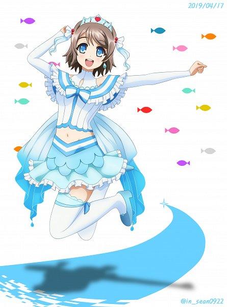 Tags: Anime, Pixiv Id 5161407, Love Live! Sunshine!!, Watanabe You, Fanart From Pixiv, Pixiv, Koi ni Naritai AQUARIUM, Fanart