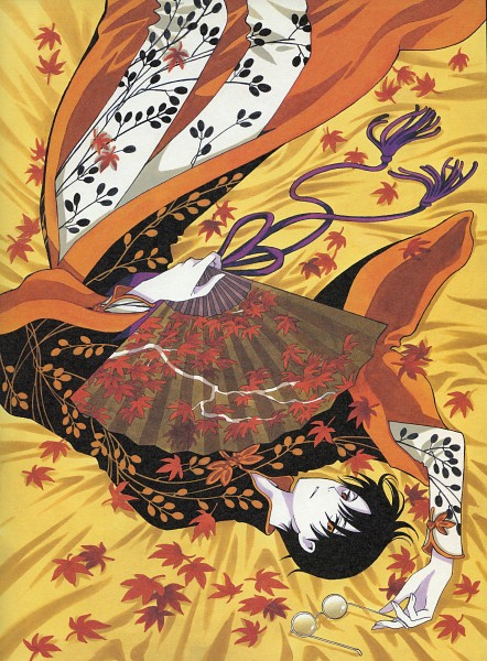 Tags: Anime, CLAMP, xxxHOLiC, Watanuki Kimihiro, Glasses In Hand, Official Art, Scan