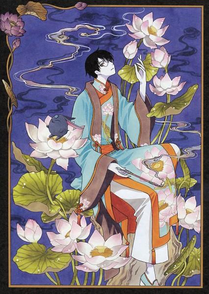 Tags: Anime, CLAMP, xxxHOLiC, Mokona Modoki (Black), Watanuki Kimihiro, Scan, Mobile Wallpaper, Official Art