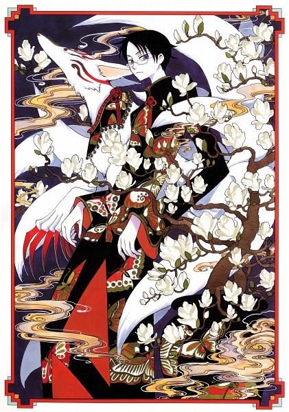 Tags: Anime, CLAMP, xxxHOLiC, Mugetsu (xxxHOLiC), Watanuki Kimihiro, Official Art, Scan, Mobile Wallpaper