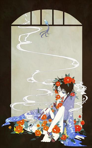 Tags: Anime, Pixiv Id 2150756, xxxHOLiC, Watanuki Kimihiro, Fanart, Pixiv, Mobile Wallpaper
