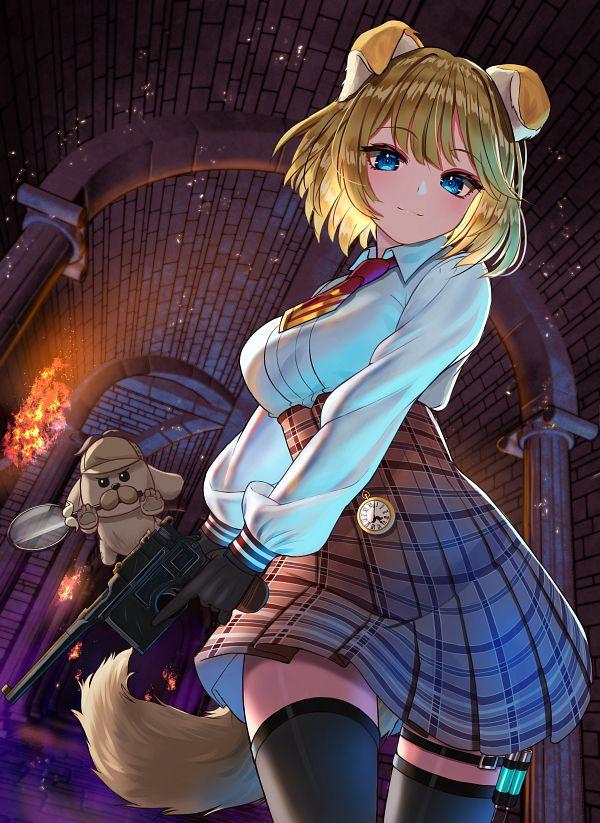 Tags: Anime, Inari (Ambercrown), Bubba, Watson Amelia, Watson Amelia Ch., Hololive