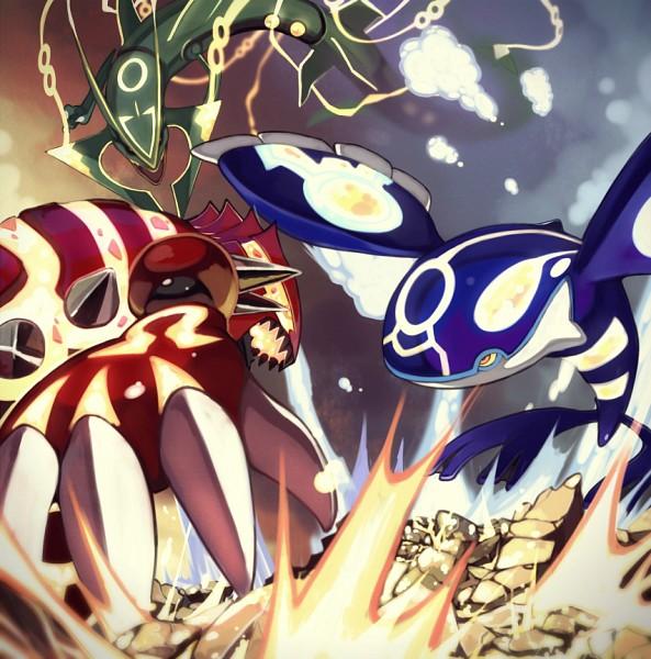 Tags: Anime, Pixiv Id 4952461, Pokémon, Groudon, Rayquaza, Kyogre, Fanart From Pixiv, Pixiv, Primal Form (Pokémon), Legendary Pokémon, Mega Form (Pokémon), Fanart, Weather Trio