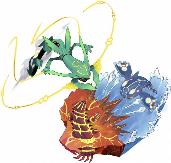 Tags: Anime, Nganlamsong, Pokémon, Rayquaza, Kyogre, Groudon, Lava, Legendary Pokémon, deviantART, Primal Form (Pokémon), Mega Form (Pokémon), Fanart, Fanart From DeviantART