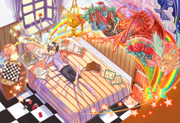 Tags: Anime, Wednesday (Artist), Bedroom, Pixiv, Original