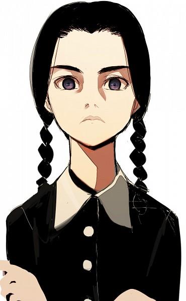 Tags: Anime, Sorethroat, Addams Family, Wednesday Addams, Pixiv, Mobile Wallpaper, Fanart