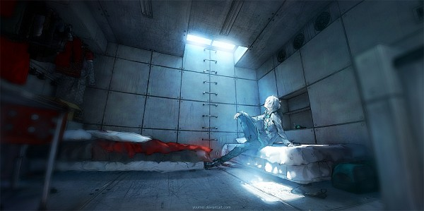 Tags: Anime, Wenqing Yan, Fisheye Placebo, Frey (Fisheye Placebo), Ladder, Cabinet, Messy Room, Facebook Cover