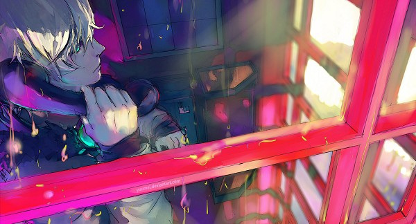 Tags: Anime, Wenqing Yan, Fisheye Placebo, Frey (Fisheye Placebo), Phone Booth, Facebook Cover