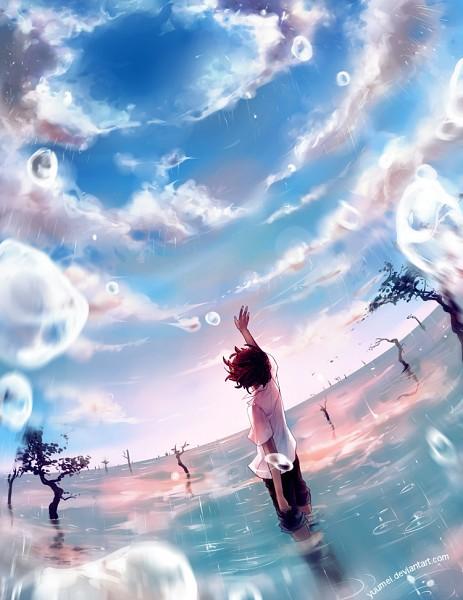 Tags: Anime, Wenqing Yan, Reaching Up, Flood, Rolled Up Pants, deviantART, Pixiv, Original
