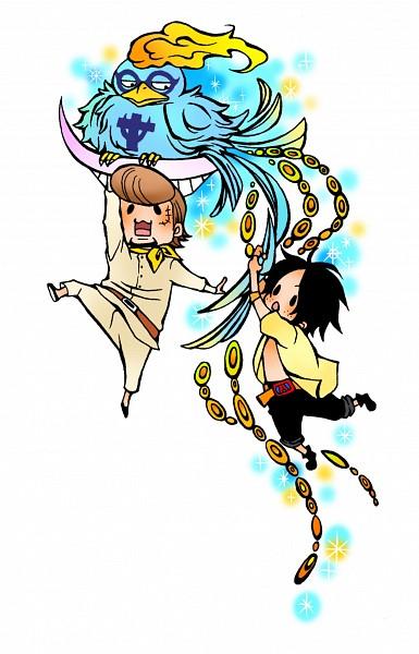 Tags: Anime, Pixiv Id 2044157, ONE PIECE, Portgas D. Ace, Thatch, Marco (ONE PIECE), Phoenix, Mobile Wallpaper, Pixiv, Whitebeard Pirates