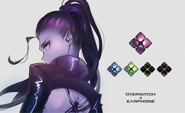 Tags: Anime, Pixiv Id 5363905, Overwatch, Widowmaker, Leather Clothes, Purple Skin, Fanart From Pixiv, Fanart, Pixiv, Wallpaper