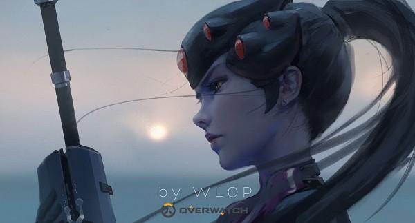 Tags: Anime, wlop, Overwatch, Widowmaker, Purple Skin
