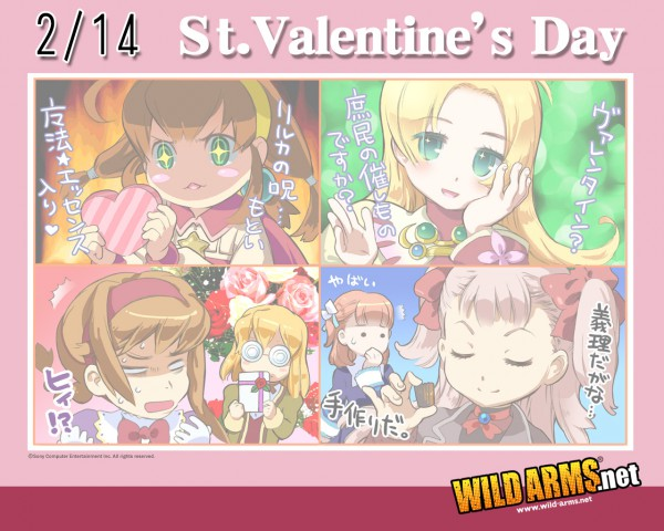 Tags: Anime, Wild Arms, Raquel Applegate, Yulie Ahtreide, Maya Schrodinger, Lilka Elenika, Virginia Maxwell, Cecilia Lynne Adelhyde, Wallpaper