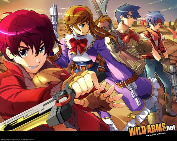 Tags: Anime, Wild Arms, Jude Maverick, Rody Roughnight, Ashley Winchester, Virginia Maxwell, Wallpaper