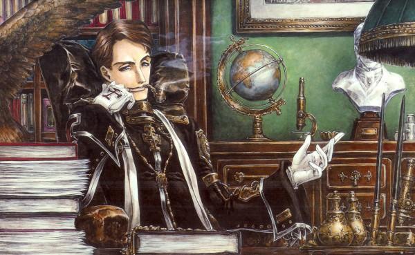 Tags: Anime, Shibamoto Thores, Trinity Blood, William Walter Wordsworth, Globe, Wallpaper, Official Art