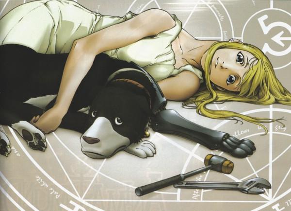 Tags: Anime, SQUARE ENIX, Fullmetal Alchemist, Winry Rockbell, Mechanical Leg, Prosthesis, Den Rockbell