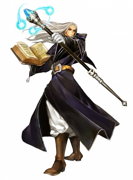 Tags: Anime, George Kamitani, Vanillaware, Dragon's Crown, Wizard (Dragon's Crown), PNG Conversion, Official Art