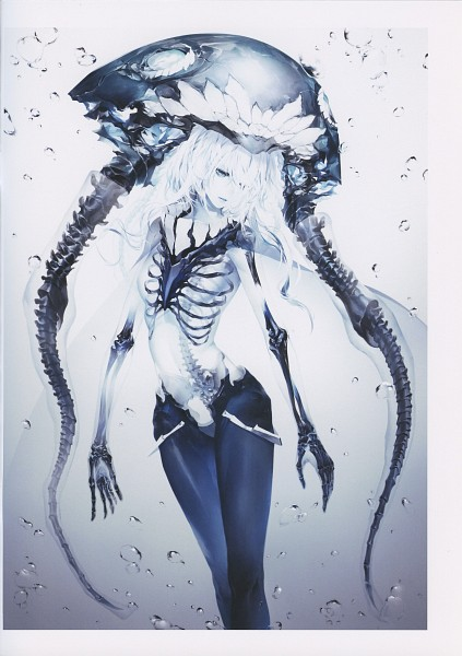 Tags: Anime, Kodama (Wa-ka-me), Artifact, Kantai Collection, Wo-Class (Kantai Collection), Skeleton Arm, X-ray, Ribs, Spine (Bone), Transparent Body, Comic Market 89, Scan, Fanart