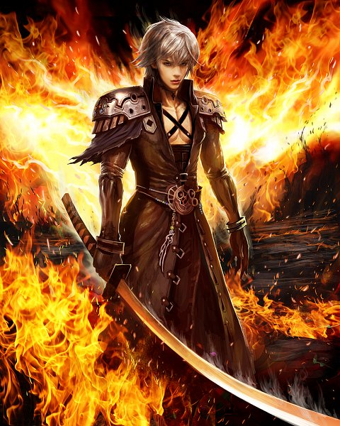 Tags: Anime, Matsuda Toshitaka, SQUARE ENIX, Mobius Final Fantasy, Wol (Mobius Final Fantasy), Sephiroth (Cosplay), Official Art, 3D, Official Card Illustration