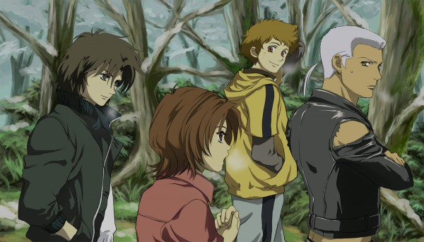 Tags: Anime, Wolf's Rain, Hige, Tsume, Kiba (Wolf's Rain), Toboe, Fanart, Facebook Cover, Pixiv