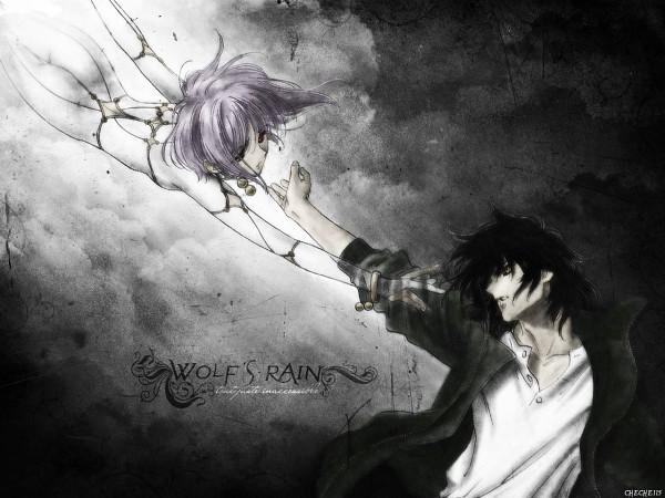 Tags: Anime, Wolf's Rain, Kiba (Wolf's Rain), Cheza, Wallpaper
