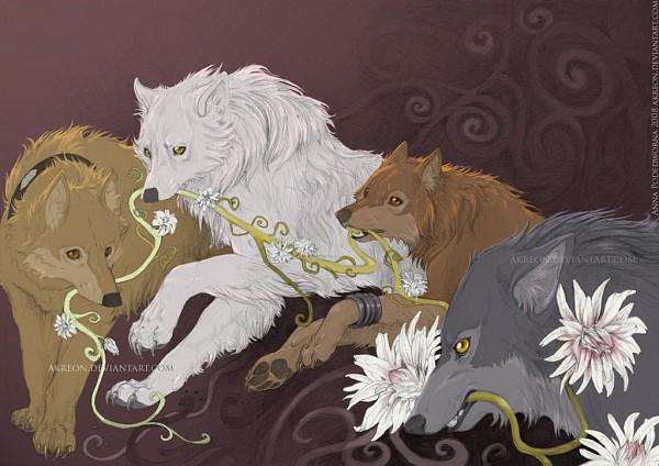 Tags: Anime, Akreon, Wolf's Rain, Kiba (Wolf's Rain), Toboe, Hige, Tsume, deviantART, Fanart