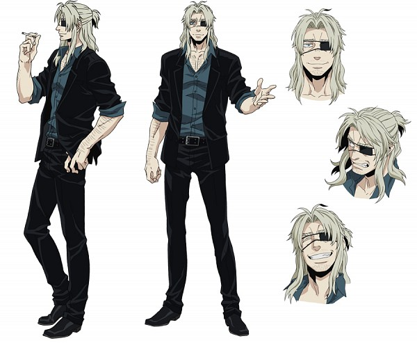 Tags: Anime, manglobe, GANGSTA., Worick Arcangelo, Stubble, PNG Conversion, Official Art, Character Sheet