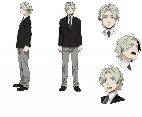 Tags: Anime, manglobe, GANGSTA., Worick Arcangelo, Character Sheet, PNG Conversion, Official Art