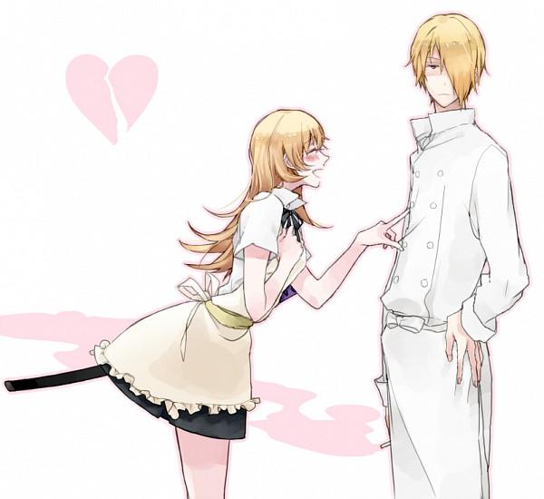 Tags: Anime, Ura, Working!!, Todoroki Yachiyo, Satou Jun, Poking, Broken Heart, Fanart, Pixiv