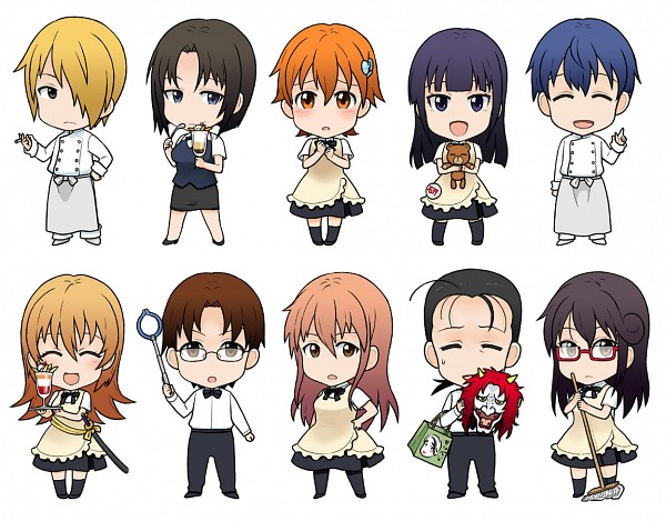 Tags: Anime, Atsu Takashi, Working!!, Inami Mahiru, Takanashi Souta, Otoo Hyougo, Shirafuji Kyouko, Takanashi Kotori, Souma Hiroomi, Yamada Aoi, Todoroki Yachiyo, Taneshima Popura, Satou Jun
