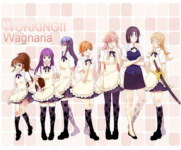 Tags: Anime, Pixiv Id 462672, Working!!, Takanashi Souta, Taneshima Popura, Inami Mahiru, Matsumoto Maya, Shirafuji Kyouko, Takanashi Kotori, Todoroki Yachiyo, Yamada Aoi